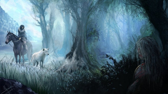 Jon Snow Beyond the Wall (Artist: Evolvana)